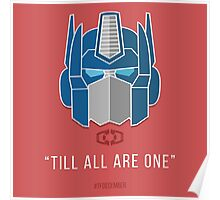 "TFDecember 09 - Optimus Prime ""Till All Are One"" Poster"