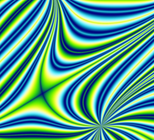Lime Green and Blue Pattern Design Sticker