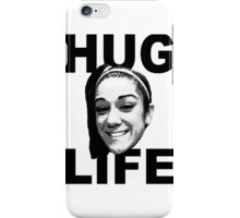 HUG LIFE - Black Font iPhone Case/Skin