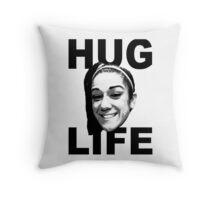 HUG LIFE - Black Font Throw Pillow