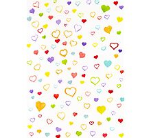 Watercolor litlle hearts Photographic Print