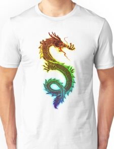 Rainbow Chinese Dragon Illustration (DBZ, Ancient, Mythical) Unisex T-Shirt
