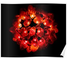 Regal Red Wreath Poster