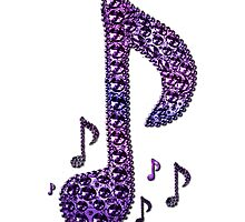 Purple Lovers Sparkle Music Notes Pattern by HavenDesign
