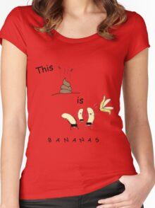 This shit is B-A-N-A-N-A-S Women's Fitted Scoop T-Shirt