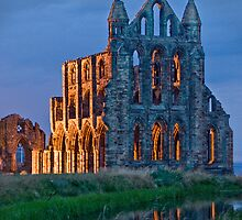 Whitby Abbey at dusk. by davidmcmurray