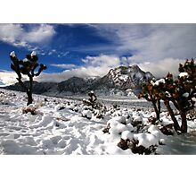 Snow and Clouds, Red Rock Canyon Photographic Print