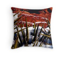 Snow and Yucca, Red Rock Canyon Throw Pillow