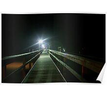 Light at the end of the Pier Poster