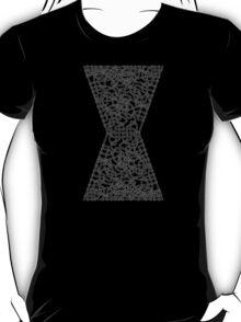 Celtic Black Widow Logo Avengers White no fill T-Shirt