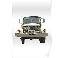 Old Military Truck Poster