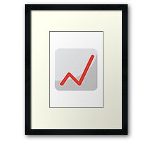 Chart With Upwards Trend EmojiOne Emoji Framed Print