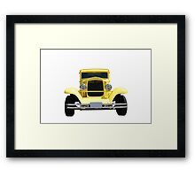 Yellow Hot Rod Framed Print