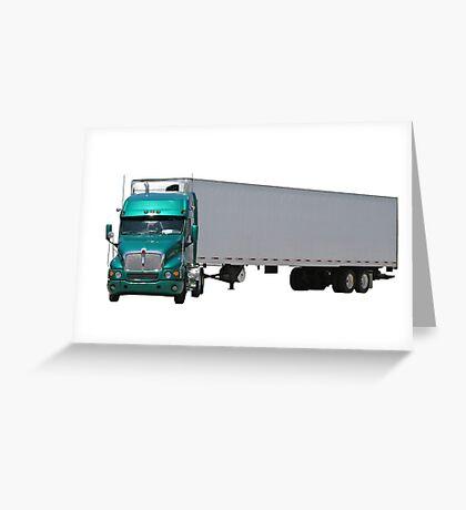 Green Semi Truck Greeting Card
