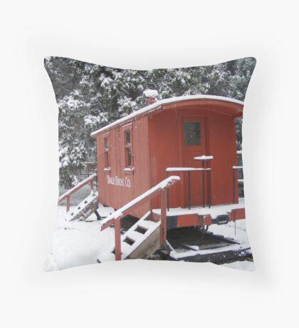 The Frozen Train Car Throw Pillow