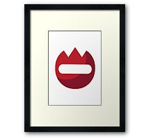 Name Badge EmojiOne Emoji Framed Print