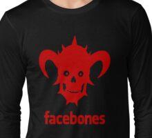 Dethklok's Facebones- Red Long Sleeve T-Shirt