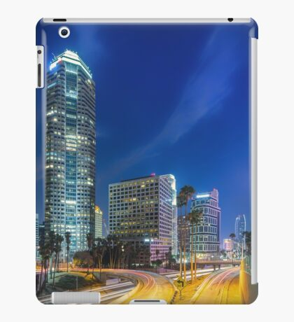 Downtown Los Angeles at Night 3 iPad Case/Skin