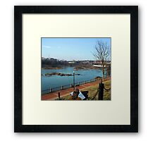 Sketching by the River Framed Print
