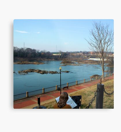Sketching by the River Metal Print