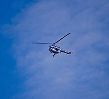 The police helicopter by MarekM
