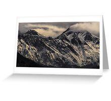 NEPAL:MT.EVEREST & LHOTSE Greeting Card
