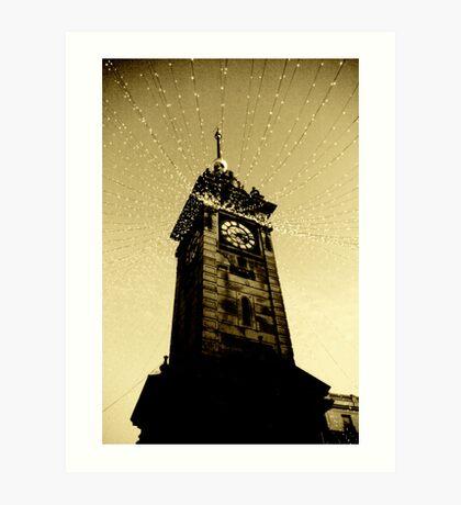 Golden Tower Of Time Art Print