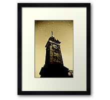 Golden Tower Of Time Framed Print