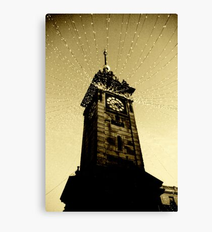 Golden Tower Of Time Canvas Print