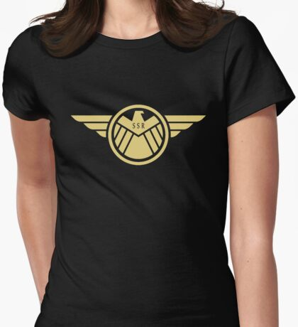 Agent Carter - Gold Wings Womens Fitted T-Shirt