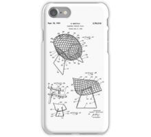 Iconic Mid Century Modern Flexible Contour Chair by Harry Bertoia iPhone Case/Skin