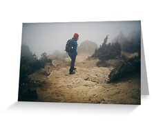 NEPAL:TRAVELLER IN THE FOG Greeting Card