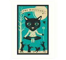 TAROT CARD CAT: THE MAGICIAN Art Print