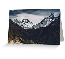 NEPAL:MT.EVEREST / LHOTSE / AMA DABLAM Greeting Card