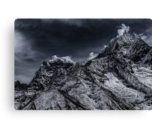 NEPAL:SMOKE IN THE MOUNTAINS Canvas Print