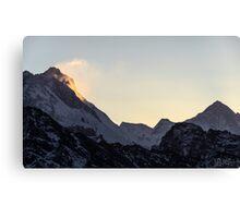 NEPAL:SUNRISE AT GOKYO RI Canvas Print