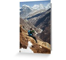 NEPAL:THE PHOTOGRAPHER Greeting Card