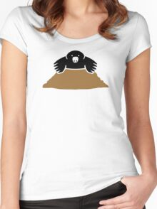 Comic mole Women's Fitted Scoop T-Shirt