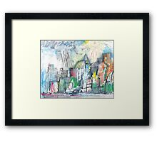 SPRING STORM IN THE CITY(C2010) Framed Print