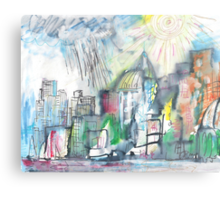 SPRING STORM IN THE CITY(C2010) Metal Print
