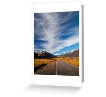 NEW ZEALAND:ROAD TO MT.COOK Greeting Card