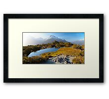 NEW ZEALAND:KEY SUMMIT AT SUNSET Framed Print