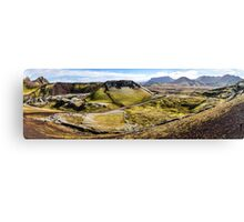 ICELAND:PANORAMA WITH VOLCANO Canvas Print