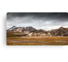 ICELAND:RISING STORM Canvas Print