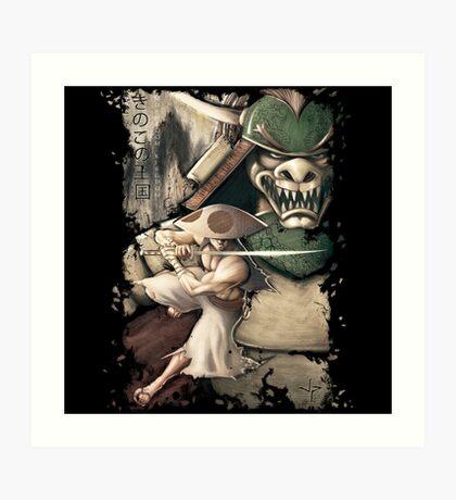 Ronin of the Mushroom Kingdom Art Print