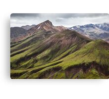 ICELAND:GREEN MOUNTAINS Canvas Print