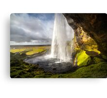 ICELAND:THE WATERFALL AND THE RAINBOW Canvas Print