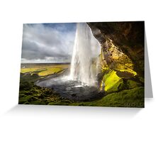 ICELAND:THE WATERFALL AND THE RAINBOW Greeting Card