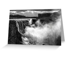 ICELAND:THE GIANT WATERFALL Greeting Card