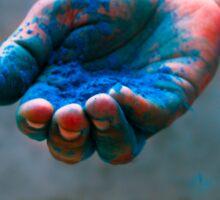 Blue Color Sticker